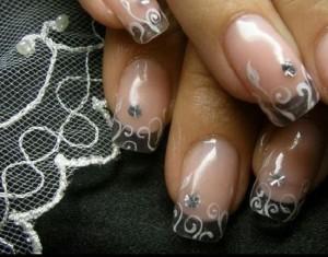 Украшение нарощенных ногтей