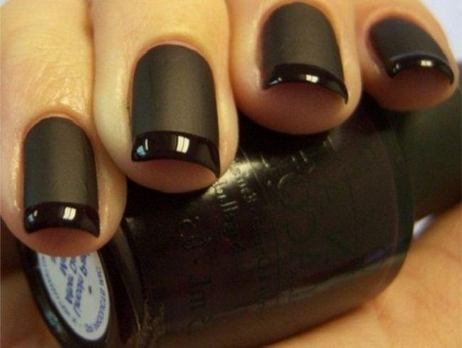 Дизайн ногтей черного цвета