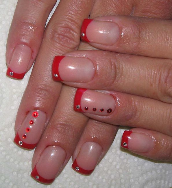 нарощенные ногти гель лаком фото