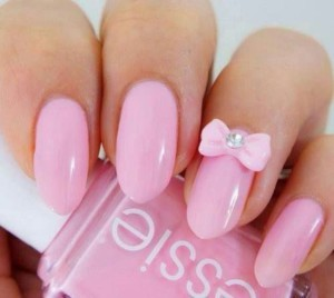 Розовый маникюр на длинные ногти