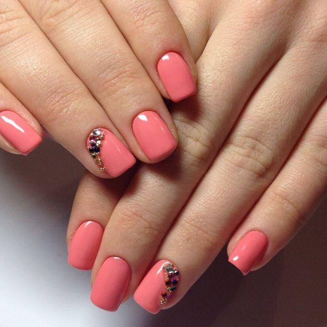 Шеллак на коротких ногтях фото дизайн