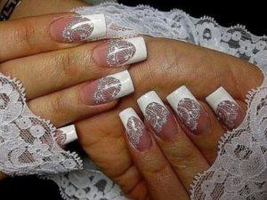 Наращивание ногтей на свадьбу